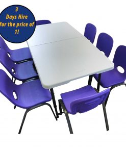 childrens party table and chairs