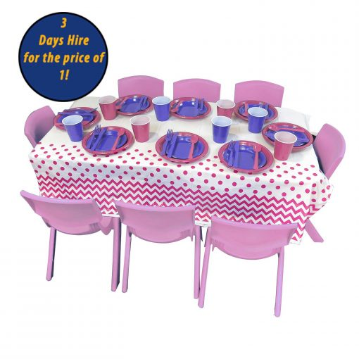 Kids Party Hire chairs tables