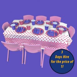 children's party table and chairs hire melbourne, Kids Party Hire chairs tables